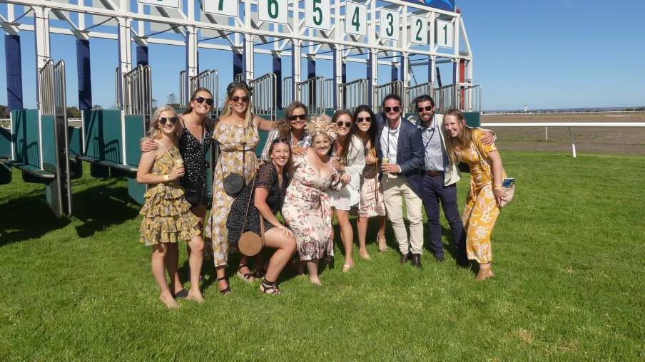 FUN TIMES: Toni Kempster and her crew at the 2020 SeaLink Kangaroo Island Cup Carnival, which broke records for attendance. Photo: Stan Gorton